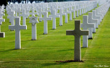 endless crosses, Normandy American Cemetery
