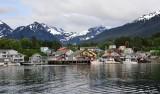 Sitka Harbor, C-180 Seaplane, Mt Verstovia, Gayan Hills, Sitka, Alaska