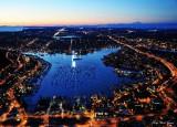 Lake Union,Interstate 5, Seattle, Mount Baker, Washington