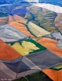 Mosiac colors of farm land, Helix, Idaho