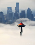 Space Needle ,Seattle Skyline, Seattle, Washington