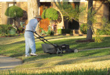 He never misses a chance to mow