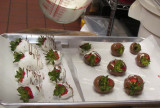 Dipping Strawberries