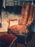 The chair in which Bernadette died