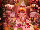 Janmastami 2011 Jagannathas altar