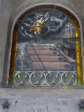 Inside a mauseleum
