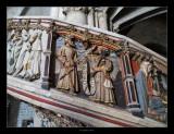Escala del cor de l'Església Arxiprestal de Morella (Els Ports) · Detall ·