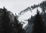 Half Dome's left, snowy section (Winter 2012). #2342