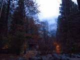 Mountain Lodge window scene, Day 2 dinner. #3695.