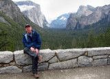 Guide and photographer, Herb, Tunnel View, Day 2. S95. #3589cr