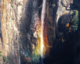 Rainbow of colors. Late day Bridalveil Fall from Tunnel View. #1733a.
