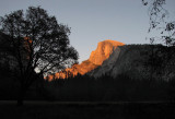 Half Dome does get  really orange-red like that at this hour in the Fall. #1766.
