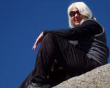 On the Glacier Point portrait-rock  :-)  Donna. #2827