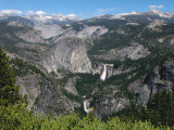 Two waterfalls in Yosemite Valley seen from Glacier Point, 5/22/12