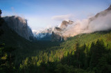 Hours later, Spring storm, momentary clearing, Tunnel View, Cathedral Rocks, 7:13 pm  #2620