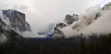 6:14 pm. Wider view of  clearing storm in late May at Tunnel View, Yosemite.. #4505