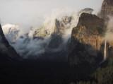 Resting Cloud ridgeline, under snow, at left.  Tunnel View. 7:15 pm S95 #4588
