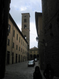 Entering a side street in Volterra