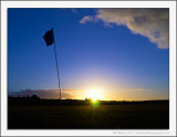 Sunset over the Golf Course