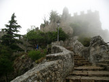 Stairs up to Cesta tower