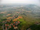Thinning clouds over Borgo Maggiore
