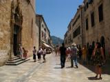 Tourists walking on Placa