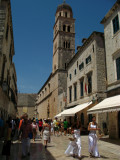 View down Placa with Franciscan monastery tower