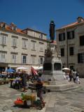 Market remnants on Gundulićeva Poljana