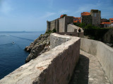 View down the ramparts