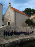 Life jackets hanging below Sv. Đurđa Church