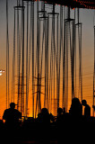 Sunset of fairground