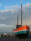 Boat on display, Scheveningen