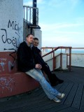 My cuz and ladyfriend at the pier tower