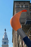 Paintbrush Sculpture & City Hall