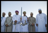 Omani men performing Razha (Folklore Dance)