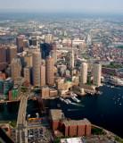 Boston skyline after takeoff