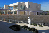 Statue overlooking Getty Entrance