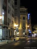 Street in Faro, at night