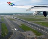 SAA flight taking off from JFK