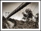 Mile High Swinging Bridge from Trail