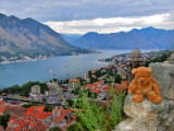 View over the Montenegrin fjord.