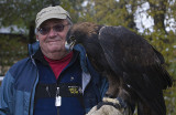Golden Eagle and Tom.the photographer