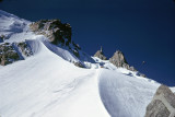 Frendo ice arete just after dawn