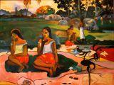 Gauguin at the Tiki Village, Mo'orea