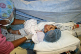 Viendo por primera vez al bebe
