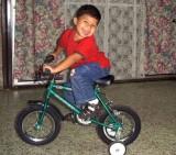 En la bicicleta