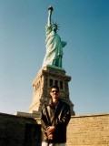 Frente a la Estatua de la Libertad
