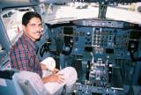 En la cabina del piloto en Houston, TX
