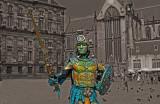 Human Statue in Dam Square