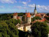 Tallinn old city skyline